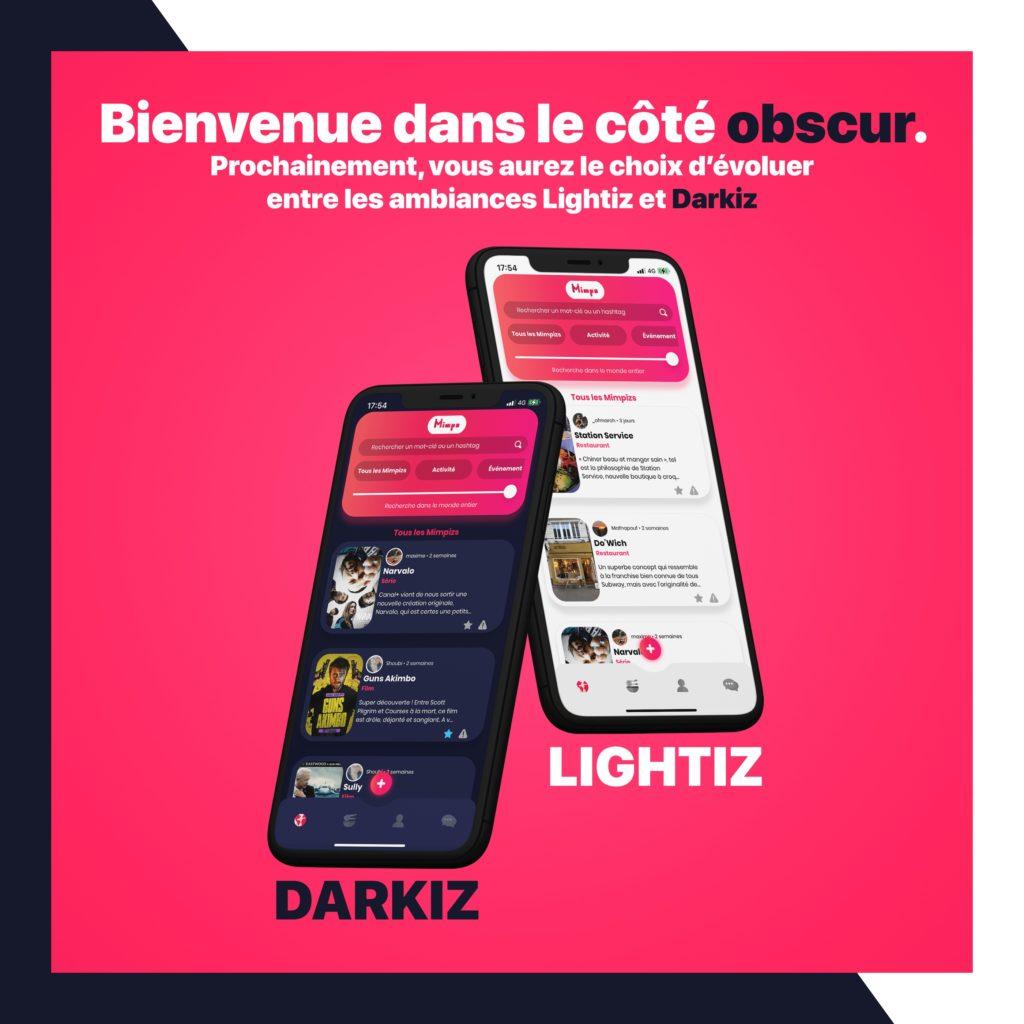 Arrivée du mode Darkiz sur Mimpe !